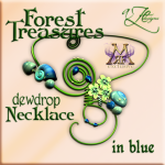 AZE Forest Treasures Dewdrop Necklace BLUE Poster MRF 512