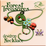 AZE Forest Treasures Dewdrop Necklace Poster MRF 512