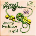 AZE Forest Treasures Dewdrop Necklace YELLOW Poster MRF 512