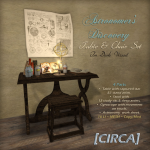 [CIRCA] - Astronomer's Discovery - Table & Chair Set -Dark Wood