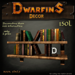 Dwarfins 1 prim Large Bookshelf