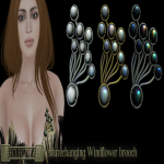 Eclectica Windflower brooch- multi