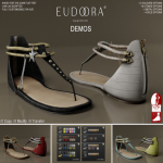 Eudora 3D Asteria Sandals (Slink Flats) Main DEMOS