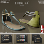 Eudora 3D Asteria Sandals (Slink Flats) Main P&C