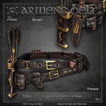 Forge Arwen's Belt Brown Female