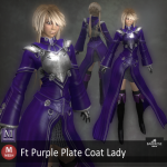 Ft Purple Plate Coat Lady