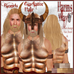 Harm's Way Gladiator hair blonds ad