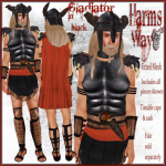 Harm's Way Gladiator in black ad