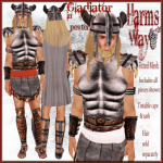 Harm's Way Gladiator in pewter ad