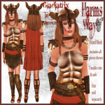 Harm's Way Gladiatrix brown ad