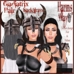Harm's Way Gladiatrix hair black_grays ad