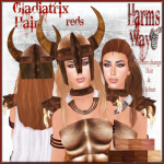 Harm's Way Gladiatrix hair in reds ad