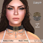 ILAYA Malkyn Collar Black_White