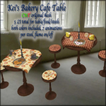 Kei's Bakery Cafe Table - BoxedPIC