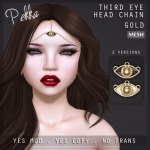 pekka third eye head chain gold