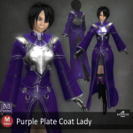 Purple Plate Coat Lady