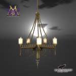 Ravenghost Scrolled Chandelier MRF Exlusive
