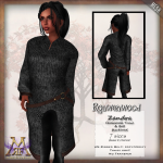{RW} Zandra Chainmail Tunic - Blackened