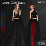 [ SAKIDE ] Lorenn Outfit Black