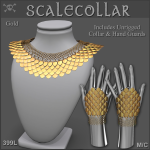 Forge Scale Collar Gold