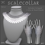 Forge Scale Collar Silver