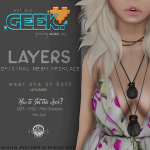 Geek. LAYERS-POSTER -50% Off for event