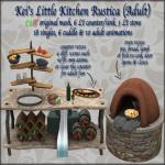 Kei's Little Kitchen Rustica (Adult) - BoxedPIC