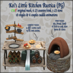 Kei's Little Kitchen Rustica (PG) - BoxedPIC