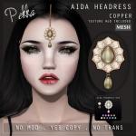 PEKKA AIDA HEADRESS COPPER