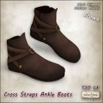 AD VW - Cross Straps Ankle Boots Brown