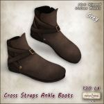 AD VW - Cross Straps Ankle Boots Grey