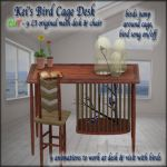 Kei's Bird Cage Desk - BoxedPIC