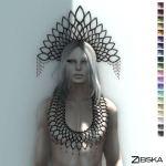 Zibska ~ Zephyrine Uomo Necklace & Headpiece