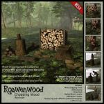 Roawenwood Feb Round Mesh Wood Chopping Chore
