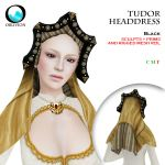 Tudor Headdress Black