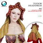 Tudor Headdress Red
