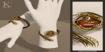 (Kunglers Extra) Yennefer necklace - Amber