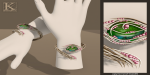 (Kunglers Extra) Yennefer necklace - Emerald