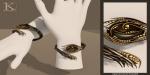 (Kunglers Extra) Yennefer necklace - Obsidian