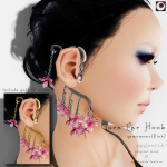 _NAMINOKE_Gaura Ear Hook Pink AD
