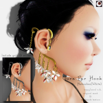 _NAMINOKE_Gaura Ear Hook White AD
