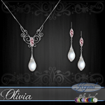 Olivia - Jewelry Set - Platinum - MultiJewel