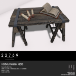 22769 ~ [bauwerk] Harbour Master Table [ad]