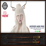 Takeo Incense Hair Pins Advertisement