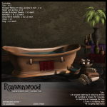 {RW} Galiana Bath Set - Copper Tub