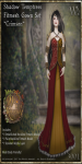 Shadow Temptress Gown Set-Crimson_Promotional Art