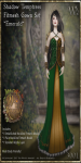 Shadow Temptress Gown Set-Emerald_Promotional Art