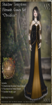 Shadow Temptress Gown Set-Obsidian_Promotional Art