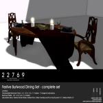 22769 ~ [bauwerk] Festive Burlwood Dining Set [ad]