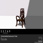 22769 ~ [bauwerk] Ornamented Burlwood Chair [ad]
